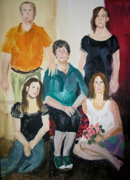 Family portrait 4 - Acrylic on canvas - 130 x 205 cm