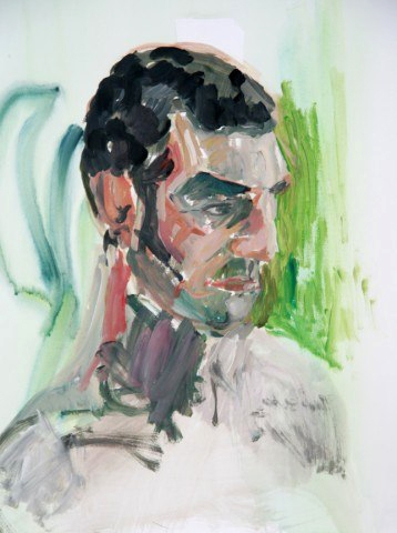 Portrait 2 - Acrylic on paper- 65 x 50 cm