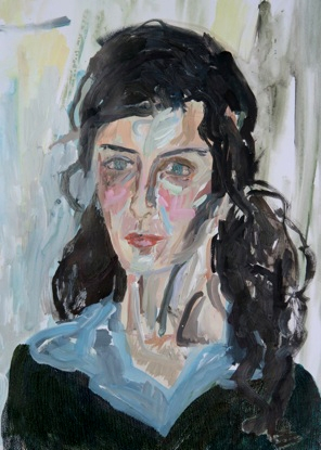 Portrait 1- Acrylic on paper- 65 x 50 cm