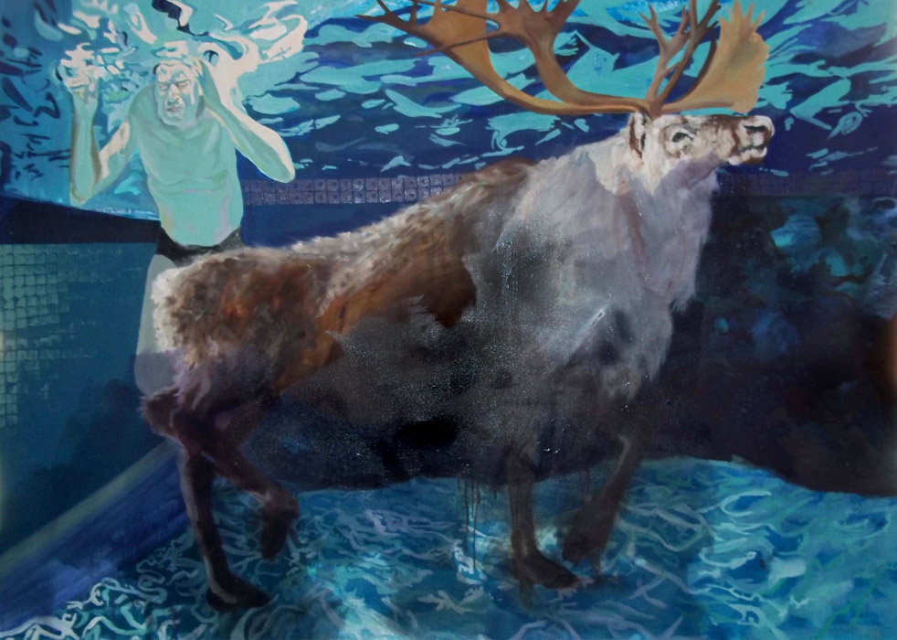 Cerf- oil on canvas