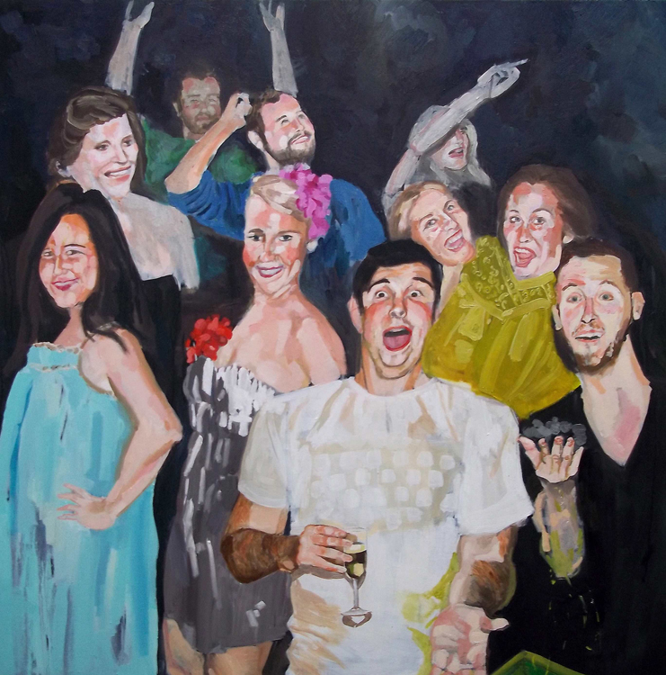 Party-oil on canvas - 122 x 122 cm