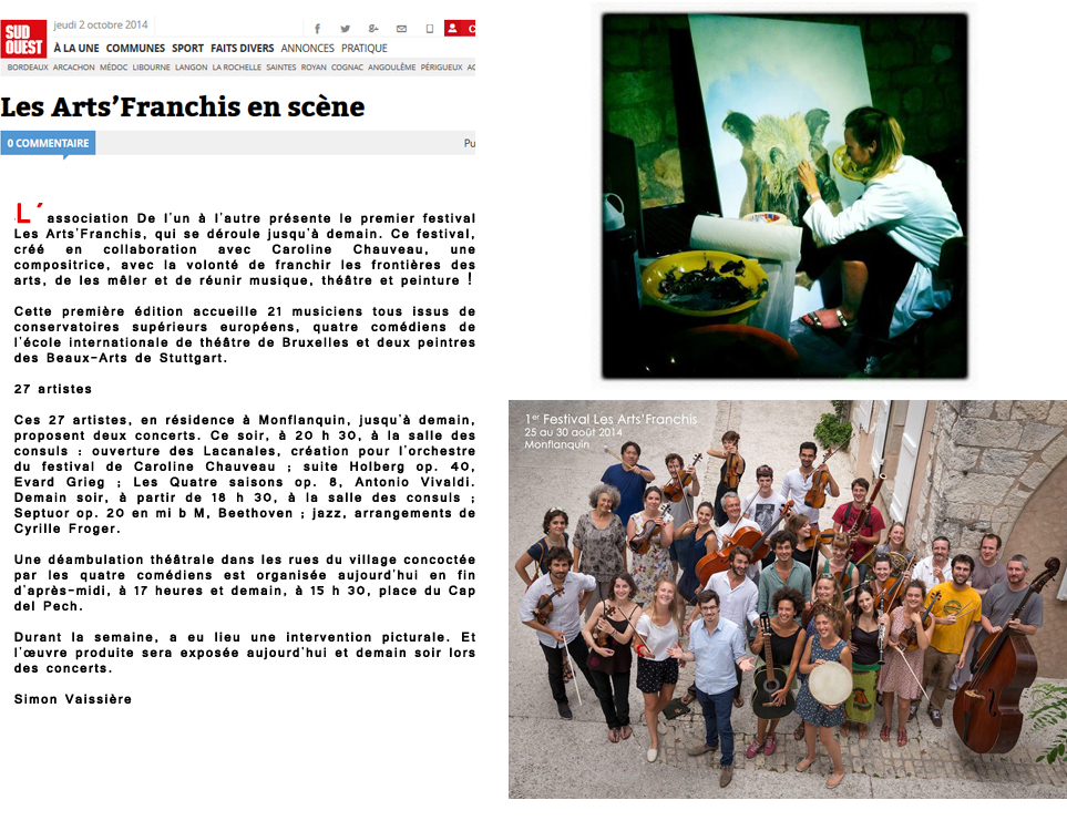 article arts franchis