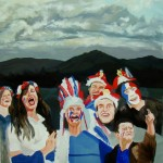 Supporters 2, oil on canvas, 120 x 120 cm