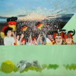 Supporters 1, oil on canvas, 120 x 120 cm