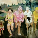 Tour de France 1, oil on canvas, 160 x 140 cm